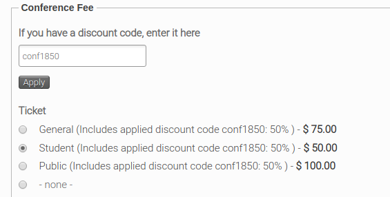 Applying Discount Code