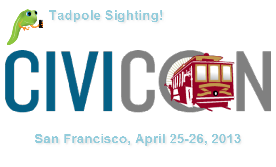 Tadpole's Dana Skallman at CiviCon 2013 in San Francisco April 25th-26th!
