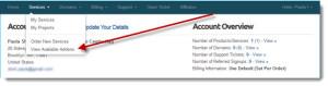 Client Admin: Addons