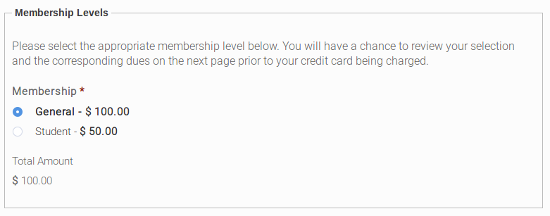 Membership Contribution Page