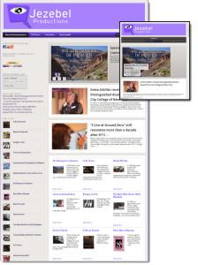 Jezebel Productions website redesign