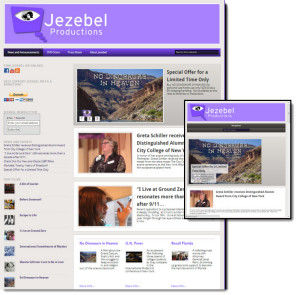 Jezebel Productions website redesign