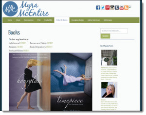 Myra McEntire's website is a Tadpole Launch Pad site!