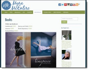 Myra McEntire's site is a Tadpole WordPress Launch Pad site!