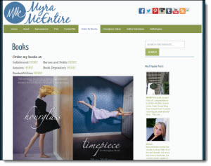 Myra McEntire's site is a Tadpole WordPress Launch Pad site!