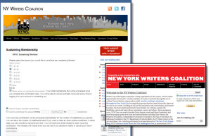 New York Writers Coalition Website Upgrade