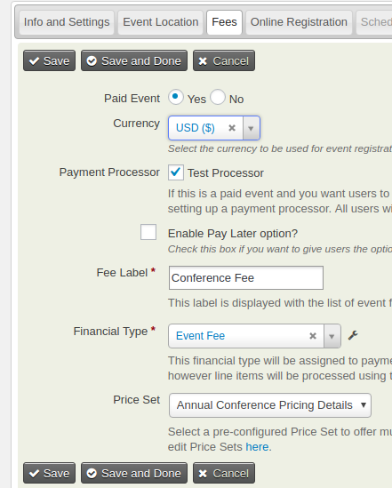 Selecting the Price Set