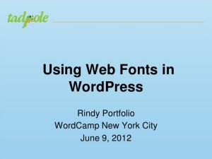 Using Web Fonts in WordPress