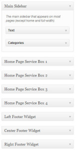 WordPress Widget Area