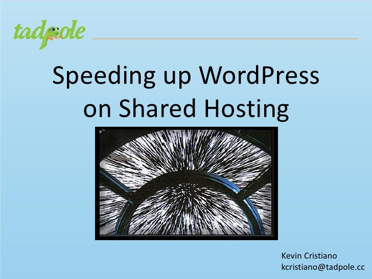 Speeding Up WordPress on Shared Hosting